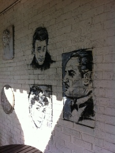 Movie Stars on the wall of Agora